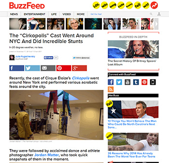 Circus Among Us featured on Buzzfeed
